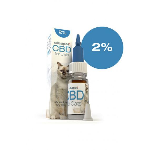 Huile de CBD pour chats 2%